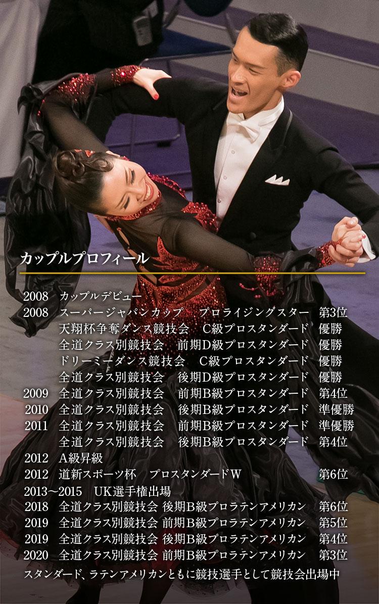 札幌西区 社交ダンス教室 中泉ダンススタジオ カップルプロフィール
